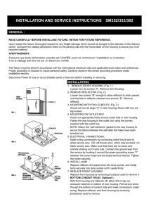 installation and service instructions sm352/353/362