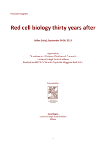 Registration form Red cell biology thirty years after