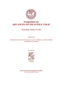 Symposium On: ADVANCES ON INFANTILE COLIC
