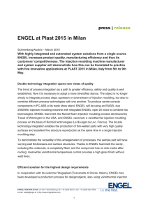 ENGEL at Plast 2015 in Milan