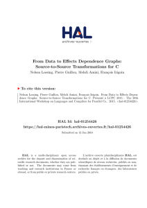 From Data to Effects Dependence Graphs: Source-to