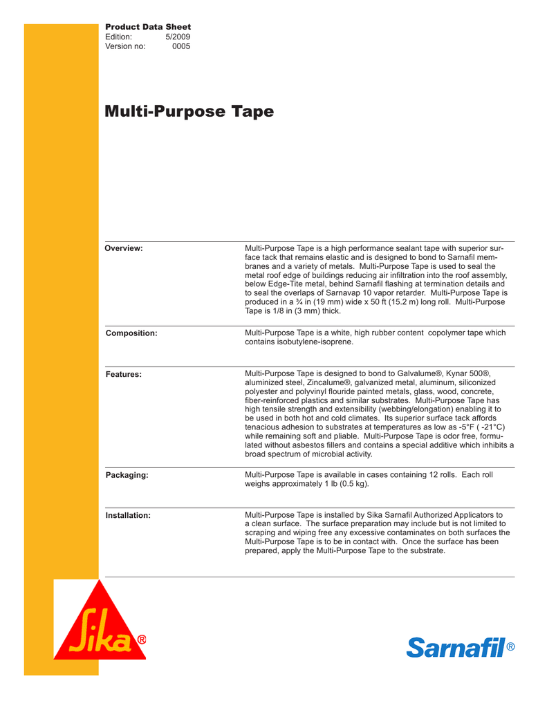 Multi-Purpose Tape