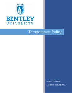 Temperature Policy - Bentley University