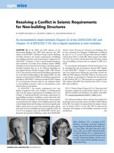 Resolving a Conflict in Seismic Requirements for Non