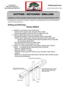 Residential Cutting Drilling Notching
