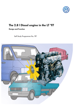 The 2.8 l Diesel engine in the LT `97