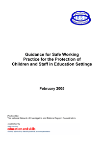 Guidance for Safe Working Practice for the