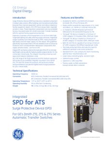 SPD for ATS - GE Industrial Solutions