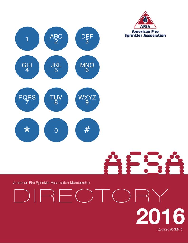 Member Directory - American Fire Sprinkler Association