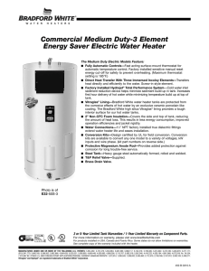 Commercial Medium Duty-3 Element Energy Saver Electric Water