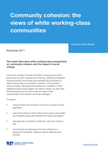 Community cohesion: the views of white working