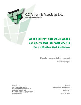 water supply and wastewater servicing master plan update