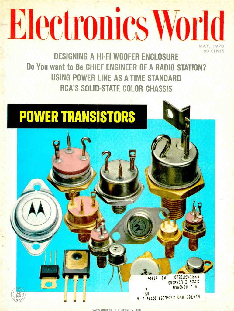Power Transistors American Radio History 60w Inverter Using