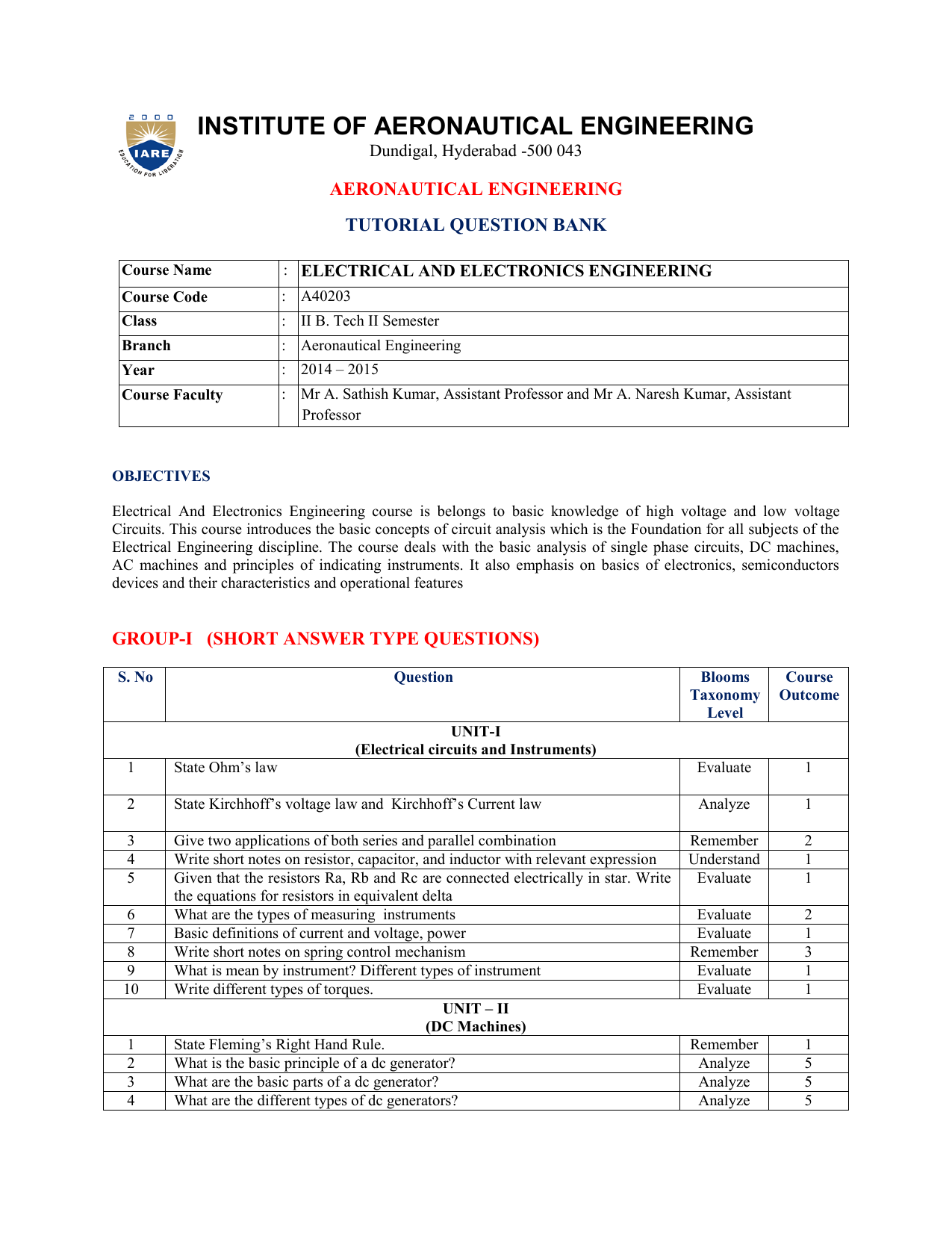 Tutorial Question Bank Electrical Engineering Tutorials Series Rlc Circuits 018829693 1 A9fa72ec8a64226e3e726d02cb636016