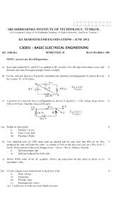 13EE01 : BASIC ELECTRICAL ENGINEERING