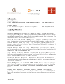 on Swedish and English publications (in pdf-format)