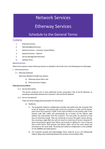 Etherway Services - BT Global Services