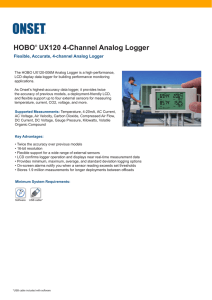 HOBO® UX120 4-Channel Analog Logger