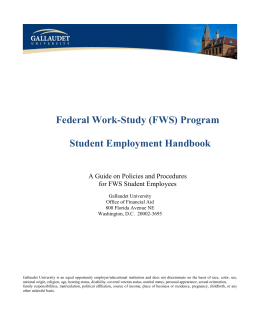 FWS Handbook for Students