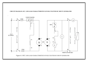 - CIRCUIT DIAGRAM: OCC AND LOAD CHARACTERISTICS OF