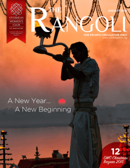 Rangoli January 2016 - The Overseas women`s club of Bangalore