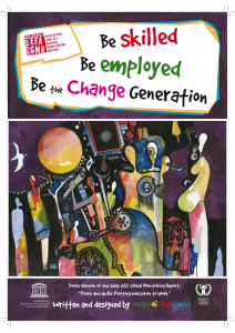 Be skilled, be employed, be the change generation