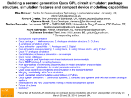 Building a second generation Qucs GPL circuit simulator - Mos-AK