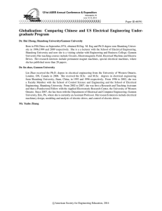 Globalization: Comparing Chinese and U.S. Electrical Engineering