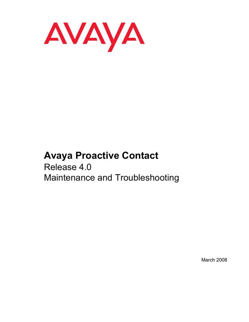 Avaya Proactive Contact