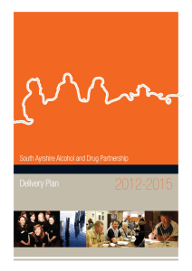 South Ayrshire`s ADP Delivery Plan 2012 -2015