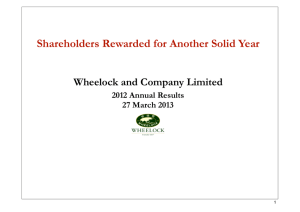 Results Presentation - Wheelock and Company Limited