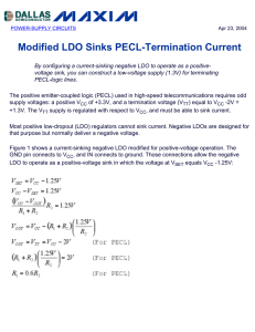 Modified LDO Sinks PECL