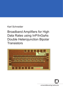 Broadband Amplifiers for High Data Rates using InP/InGaAs Double