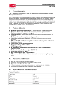 Technical Data Sheet CRC 5.56 I. Product Description II. Features