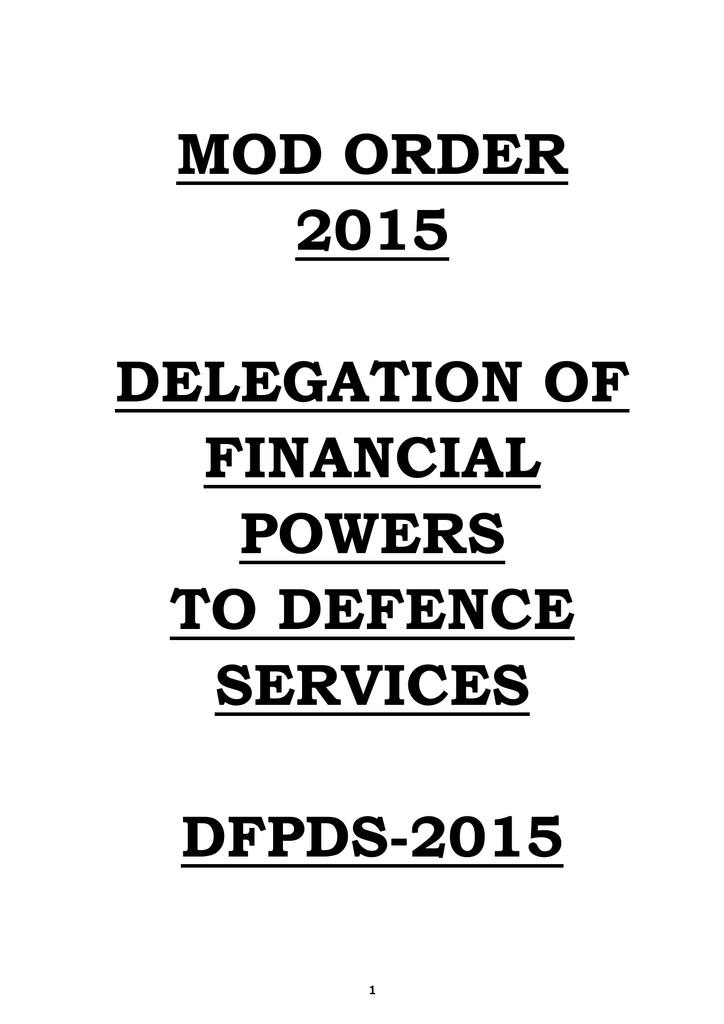 dfpds-2015 - Ministry of Defence on