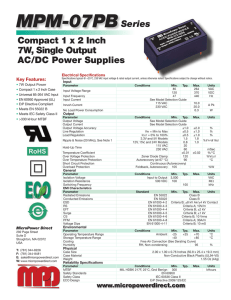 MPM 07PB Datasheet - Micropower Direct