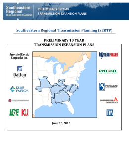 2015 Preliminary 10 Year Expansion Plans