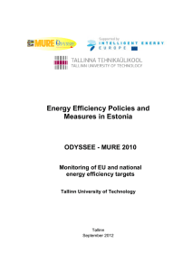 Energy Efficiency Policies and Measures in Estonia