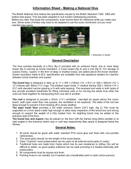 information sheet - making a National hive