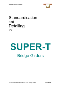 Standardisation of Super-T Girders