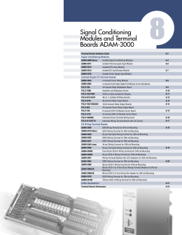 Signal Conditioning Modules and Terminal Boards ADAM-3000