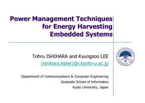 Power Management Techniques for Energy Harvesting Embedded Systems