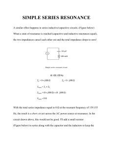 SIMPLE SERIES RESONANCE