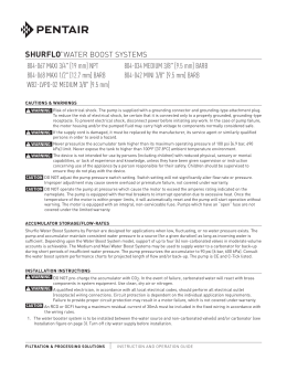 SHURFLO® WATER BOOST SYSTEMS 804