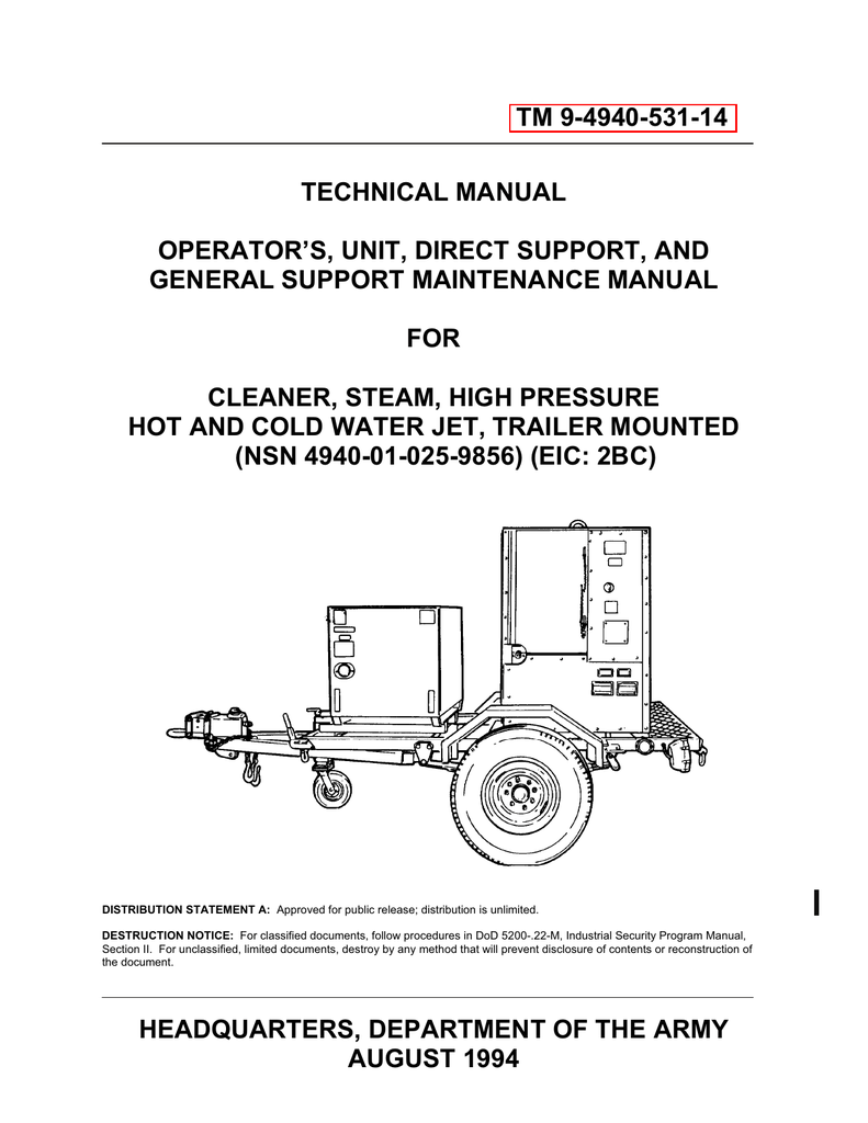Brilliant Tm 9 4940 531 14 Technical Manual Operator S Unit Direct Home Interior And Landscaping Oversignezvosmurscom