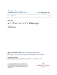 An Evaluation of Gault by a Sociologist