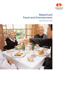 MasterCard Travel and Entertainment