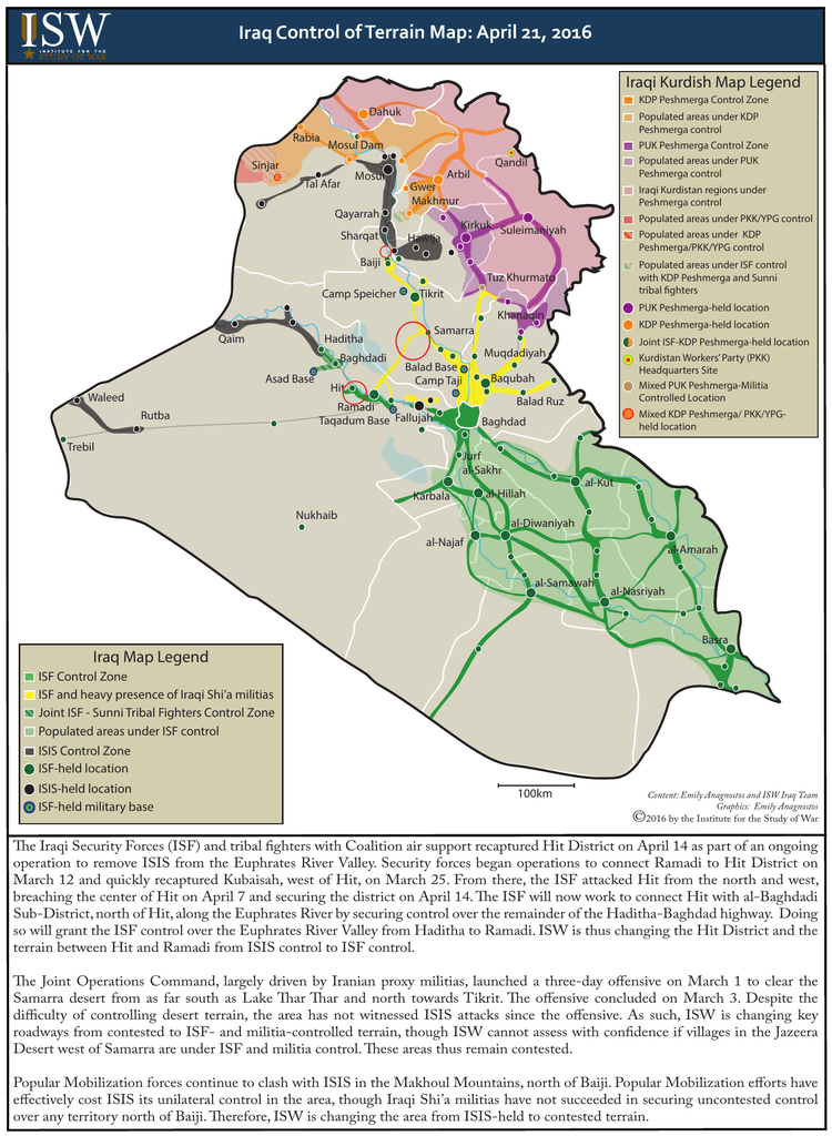 Iraq Blobby map 21 APR 2016 - Institute for the Study of War