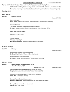 Final Program - Conference on Precision Electromagnetic