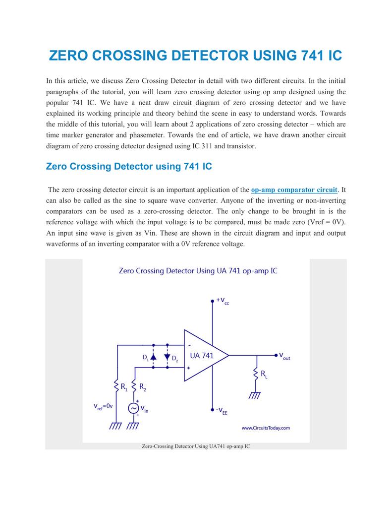 Zero Crossing Detector Using 741 Ic Basic Operational Amplifier 018834318 1 B3b172caf5b2de50a00393d48faa0acd